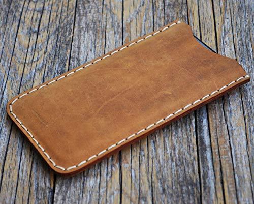 RAUES Leder Tasche für iPhone 11 PRO MAX, XS Max Hülle Cover Etui Case Ledertasche Handyschale Gehäuse Ledertasche Lederetui Lederhülle Handytasche Handysocke Handyhülle auch für 8, 7, 6s, 6 Plus