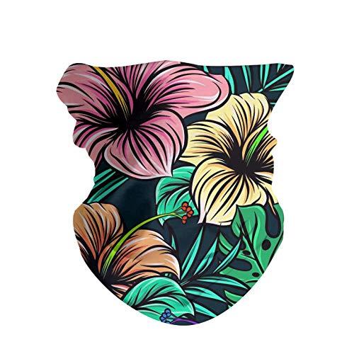 HAOZI Lot de 2 bandeaux de sport pour extérieur avec élastique haute résistance aux UV, Feuilles d'hibiscus, 50 CM x 25 CM