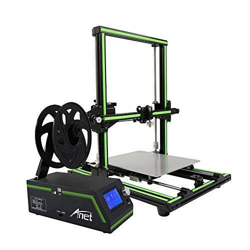 Anet E10 Imprimante 3D en Kit DIY Partiellement Assemblé Multi-langue Logiciel En Cadre d'Alliage D'aluminium Super Building Volume 220 * 270 * 300mm avec 8 Go Carte TF