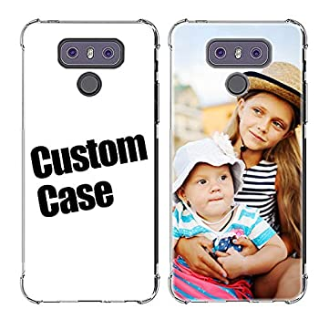 AIPNIS Custom Case for LG G6 Personalized Photo Gift Shock Absorption Soft Clear TPU Cover DIY HD Picture