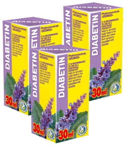 Diabetin Phyto Konzentrat - Pack von 3-21 Tage Kurs - Natürliche Pflanzenextrakte Komplex - Effektive Behandlung - Glykämie - Blutzucker Kontrolle