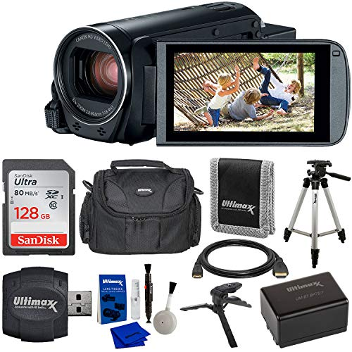 Canon VIXIA HF R800 Camcorder (Black) & 9PC Starter Accessory Bundle - Includes:...