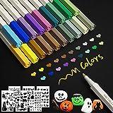 20 Colores Rotuladores Metálicos Marcador Manualidades de Bricolaje Pintura Rupestre álbum de Fotos Metalizados para Cerámica Tarjeta Hacer Pintura Roca Vidrio