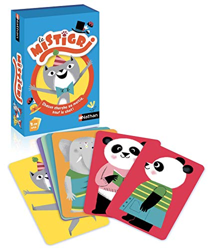 Nathan - Mistigri - Jeu de cartes pour enfant dès 4 ans - Jeu de paires pour 2 joueurs