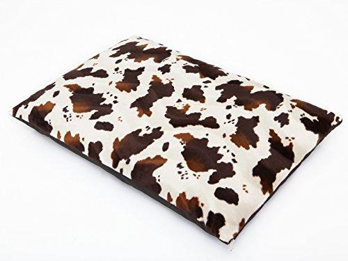 Hobbydog L MELBIK2 hondenmatras Elite maat L - 54 x 37 cm wit koe patroon bed matras slaapplaats hondenbed hondenmatras hondenkussen kussen, L, wit, 800 g