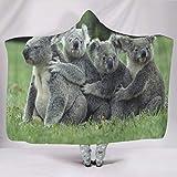 Banniyouall koalas Coperta con cappuccio per bambini e adulti, comoda misura per tutte le persone,...