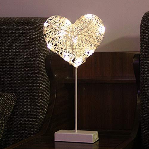 XDLUK Enfants nightlight Batterie intérieure Lampe de Table décorative Fonctionne Lampe de Chevet à la Main pour la décoration de fête de Mariage de Noël pour Les Enfants,Heart