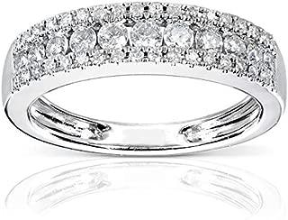 Diamond Wedding Band 1/2 carat (ctw) in 14K White Gold
