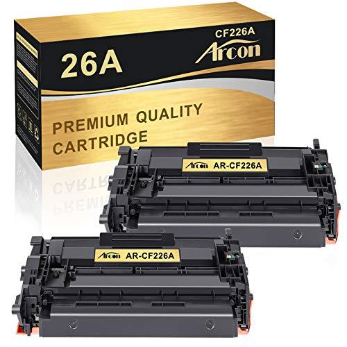 Arcon Compatible Toner Cartridge Replacement for HP 26A CF226A 26X CF226X M402n MFP M426fdw HP Laserjet Pro M402n M402dn M402dw M402d HP Laserjet Pro MFP M426fdw M426fdn M426dw HP 26A CF226A Toner-2PK