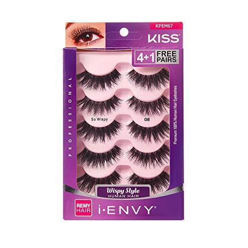 i Envy by Kiss So Wispy 08 Strip Eyelashes Value Pack #KPEM67