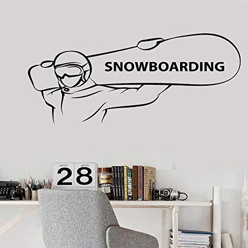 TYLPK Einfache Heißer Verkauf Vinyl Aufkleber Snowboarden Extreme Sport Snowboarder Aufkleber Für Mann Wohnzimmer Dekoration Abnehmbare 114x56 cm