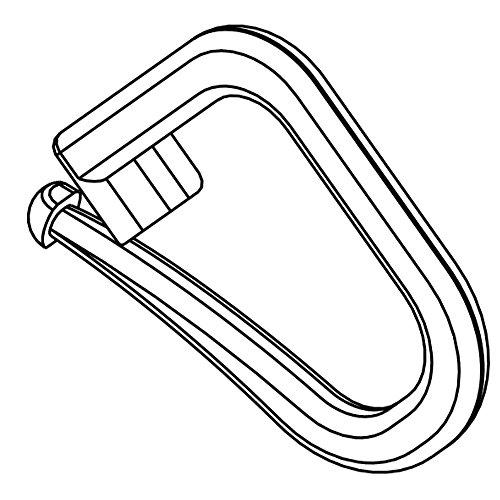 Hochwertige Faltenhalter/Raffrolloclipse verschließbar für Raffrollo zum festen Raffen des Raffrolloband - Verschiedene Größen: 25 50 100 Stück - Made in Germany (100)