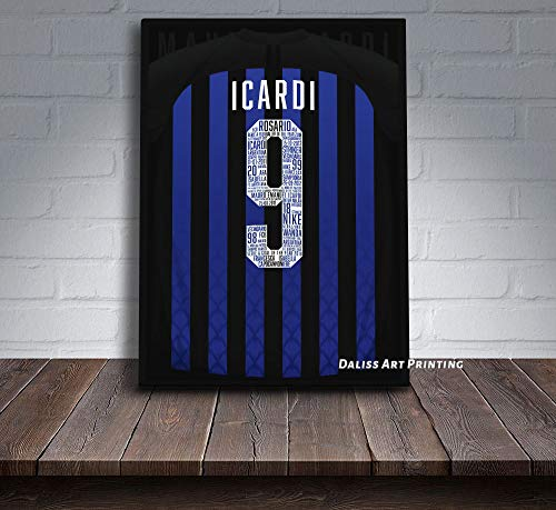 Impresiones sobre Lienzo Imprimir Cuadro Lienzo Camiseta Icardi Inter Milan Sin Marco...