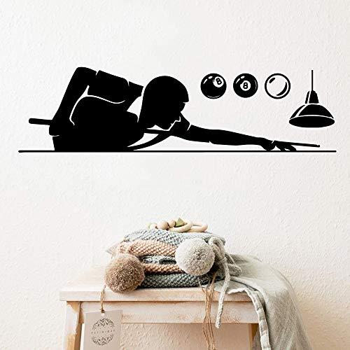 Billard Wandaufkleber Kunstaufkleber für Kinderzimmer dekorative Wandkunst Aufkleber wasserdichtes selbstklebendes Papier A7 90x24cm