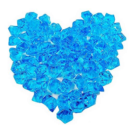Bestgle - Decorazione per acquario, pietre di ghiaia, per giardino, casa, esterni, parchi e acquari, decorazione in pietra cristallina, colore: blu