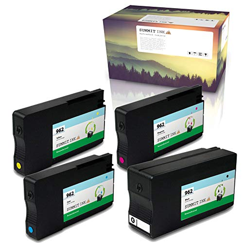 Price comparison product image Summit Ink Remanufactured Ink Cartridge Replacement 4 Pack for HP 962 for OfficeJet Pro 9010 9015 9016 9018 9020 9025