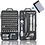 A wide selection of 121 in 1 screwdriver kit. It can be used for electronics, mobile phone, android phone, watch, glasses, laptop, Jewelers and home appliances such as televisions, air conditioners, etc.We have also prepared three special impact driv...