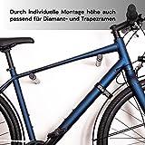 Bike Stix® Soporte de Pared para Bicicleta Hecho de Roble y Cuero: el diseño del Soporte para Bicicleta es Minimalista y Elegante para Bicicletas de Carrera, Bicicletas y MTB