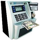 LB ATM Savings Bank Cash Coin Money Savings Machine,Personal ATM for Kids Boys Birthday Gift Toy,Sliver Black