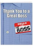 Gracias a un gran Boss gracias tarjeta de papel divertido