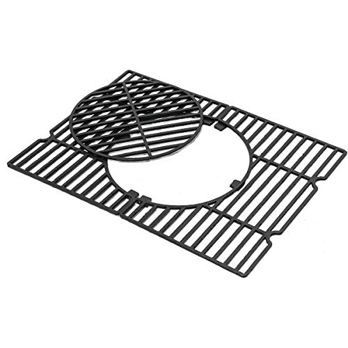 """ROTHMANN \""""Orlando XXL Ersatz-Grillrost Grillfläche Gusseisenerrost, rechteckig, geeignet für Grills mit Rost-in-Rost System   Gusseisen"""
