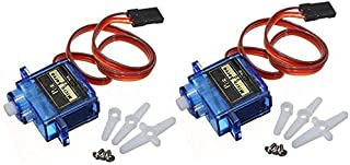 ElectroBot 2X Pcs Sg90 Micro Servo Motor 9G Rc Robot Helicopter Airplane Boat Controls