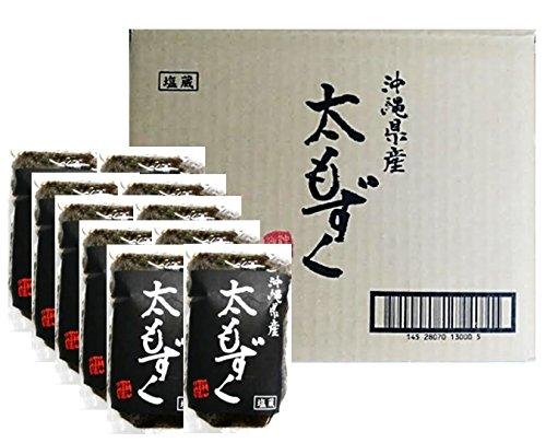 沖縄県産 太もずく (塩蔵) 500g (10袋(5kg))