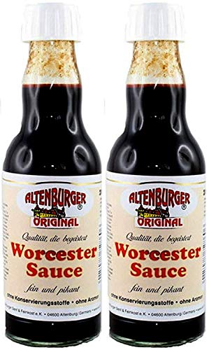 Altenburger Original Worcester-Sauce (2x 200ml) Worcestershire Sauce Glutenfrei und Vegan