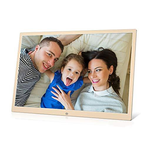 ZUEN 12-Zoll-Metall-LCD Digital Photo Frame HD 1280X800 Elektronisches Album USB Digital Picture Musik Video Player Kalender Uhr