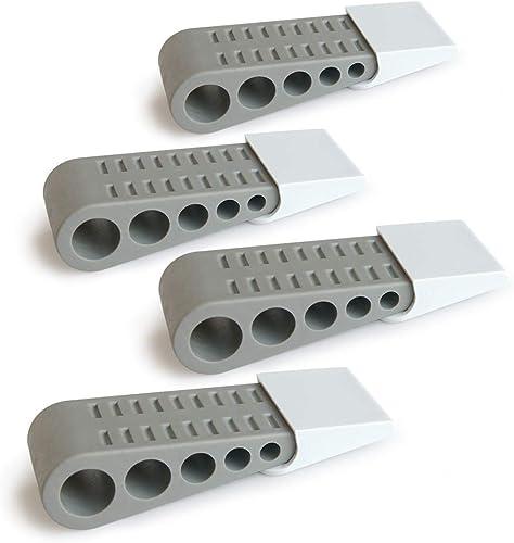 Rubber Door Stop Wedge - Door Stopper for All Floor Types - Durable Heavy Duty Doorstopper 4-Pack Doorstop with Bonus...