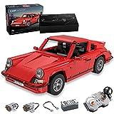Achko CADA Master C61045W Technik 911 Classic Sports Car con motor y mando a distancia, diseño retro deportivo, 1429 piezas, versión dinámica