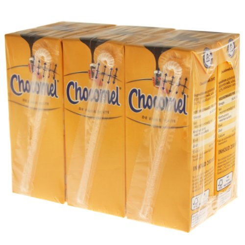 Chocomel Kakao Trinkpäckchen 6er Set, Trinkschokolade, Schokolade, Schoko Drink, Holland, á 200 ml