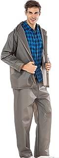 KARRESLY Motorcycle Ultra-Lite Rain Suit Men & Women Waterproof Hooded Rainwear Jacket & Trouser Suit