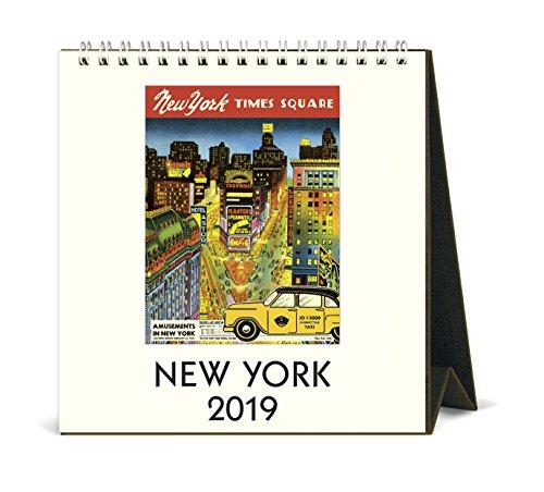 Cavallini Papers & Co. 2019 New York Desk Calendar, Multicolor