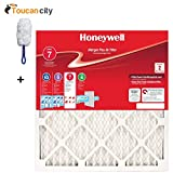 honeywell 20 x 30 x 1 - Toucan City Microfiber Duster and Honeywell 20 in. x 25 in. x 1 in. Allergen Plus Pleated FPR 7 Air Filter (2-Pack, Case of 6) 90702.012025