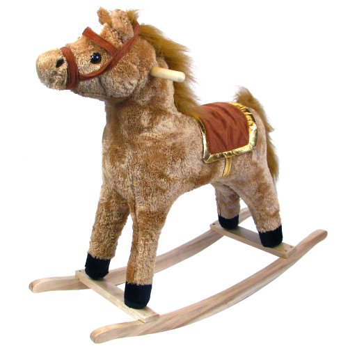 Happy Trails Plush Rocking Animal, Horse
