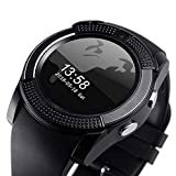 VKB V8 Pro Bluetooth Smartwatch Touch Screen with Camera, Sim Card Support, Round