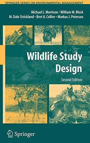 Download Wildlife Study Design (Springer Series on Environmental Management) 0387755276