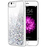 iPhone 6S Plus Case, Caka Flowing Liquid Floating Luxury Bling Glitter Sparkle Soft TPU Case for iPhone 6 Plus 6S Plus 7 Plus 8 Plus (5.5 inch) (Silver)