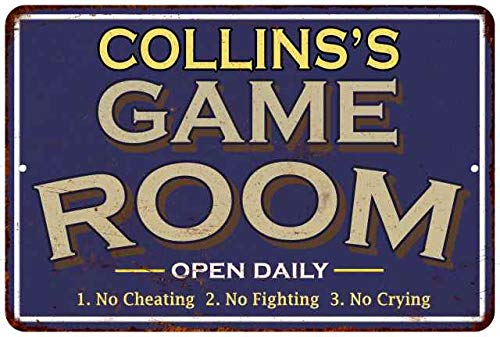 COLLINS'S Game Room Decor Personalized Sign Wall Signs...