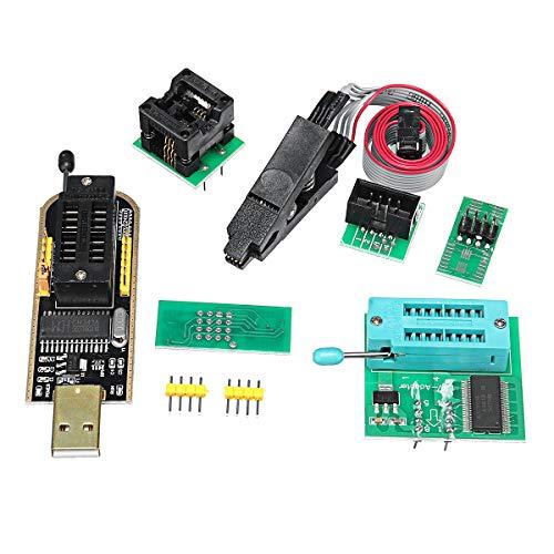MYAMIA Eeprom Bios USB-Programmierer Ch341A + Soic8 Clip + 1.8 V Adapter + Soic8 Adapter Für 24 25 Serie Flash