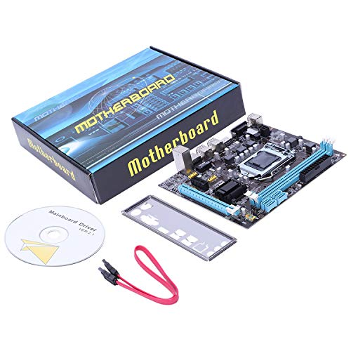 Nrpfell Placa Base Profesional H61 LGA 1155 DDR3 RAM USB 2.0 Soporte de Placa Core I3 I5 I7 Quad CPU Dual Channel Computadora de Escritorio Mainboard