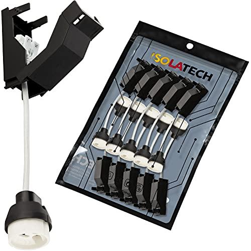 GU10 Brandschutz Keramik Fassungen mit Anschlusskasten und Schnellverbinder VDE RoHS 230-250 Volt 2A max.100W 0,75mm2 Kabel LED Halogen (hier: 10 Stück)