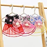 DaFuEn 3 Pcs Dog Dresses for Small Dogs Girl Dog Wedding Dress Dogs Dog Summer Clothes Puppy Cat Outfit for Chihuahua Thunder French Bulldog Dachshund Shitzu (X-Small)