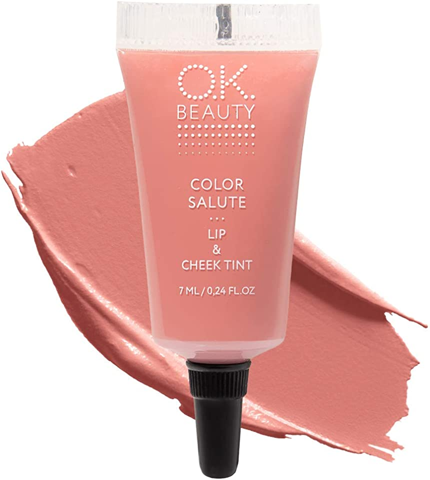 Color Salute Lip n Cheek Tint – Long Lasting Velvet Finish Lip Care & Blush in 9 trendy colors – Multipurpose Paraben Free Makeup Cosmetics - OK Beauty (Safari)