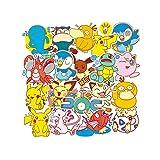 CHUDU Pegatinas de Maleta de Anime Pokemon, Pegatinas Impermeables para portátil, Guitarra, monopatín, 19 Hojas