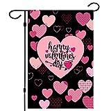 Valentine Flag, Double Sided Valentine's Day Flag Love Combination Valentine Garden Flag 12 x 18 Inch Valentine House Flags for Valentine's Day Decoration