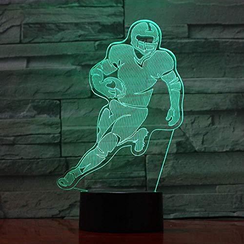 Football Figure Quarterback Usb 3D Led Night Light Boys Child Kids Fans Regalos De Cumpleaños Lámpara De Escritorio Dormitorio