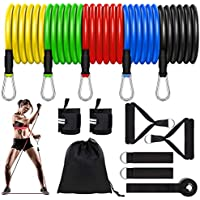 Lacoco 5 Level Resistance Exercise Bands Set