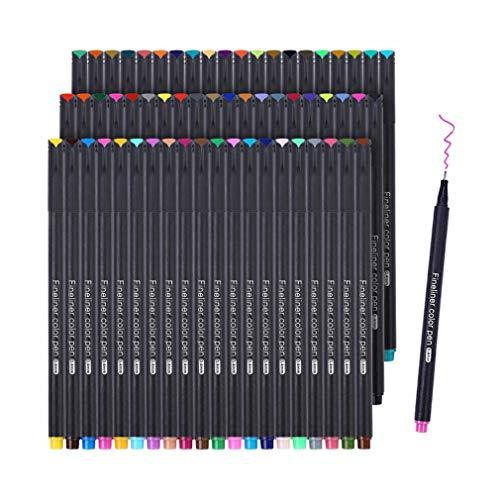 Penne Fineliner, Set di Penne Fineliner a Colori Funnasting Penne per Bozzetti Scrittura Disegno per Bullet Journal Appunti e Libri da Colorare - 60 Colori Assortiti